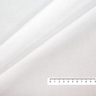 WHITE HONEYCOMB PIQUE FABRIC
