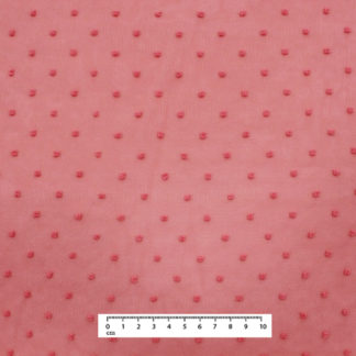 CORAL DOTTED SWISS GAUZE FABRIC