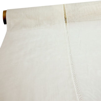 BEIGE 'RAT TEETH' BOLTING CLOTH NET CURTAIN FABRIC