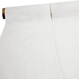WHITE 'RAT TEETH' BOLTING CLOTH NET CURTAIN FABRIC