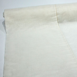 BEIGE HEMSTITCH BOLTING CLOTH NET CURTAIN FABRIC
