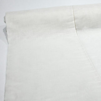 WHITE HEMSTITCH BOLTING CLOTH NET CURTAIN FABRIC