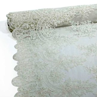 Fabric embroidered bridal dress fabric