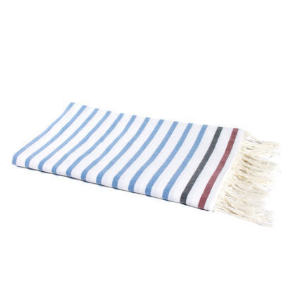 Turkish towels white and blue