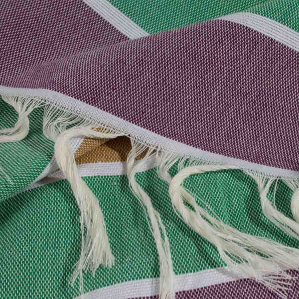 multi-colored striped Turkish towel